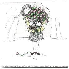 Cartoon me with roses