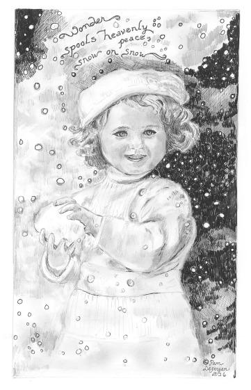 little-girl-holding-snowball
